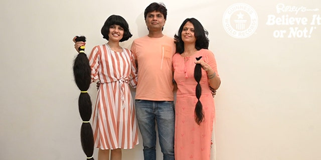 """""""My hair gave me a lot - because of my hair I am known as the 'real life Rapunzel'... now it's time to give it something back,"""" the Modasa, Gujarat teen said in a statement."""