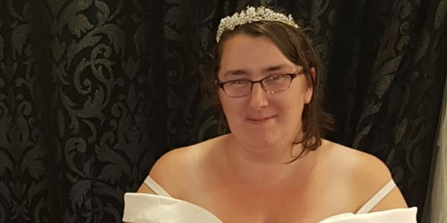 """The hard work soon paid off, and Dolan lost 50 pounds by the time she married fiancé Colin in August 2020. The newlywed said she was thrilled to feel like a """"princess"""" in her white gown."""