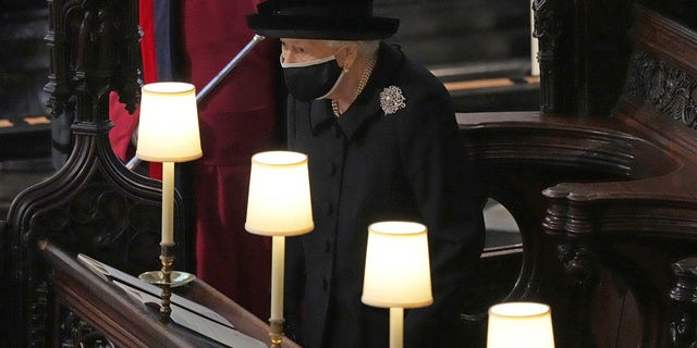 Queen Elizabeth attends the funeral service of her late husband of 73 years, Prince Philip.