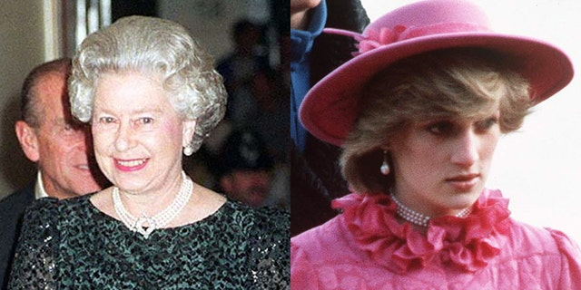Queen Elizabeth II (left) and Princess Diana (right) both wore such pearl necklaces in the past.