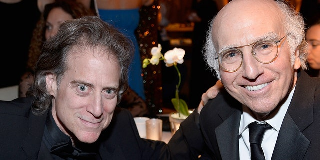 "Actor and comedian Richard Lewis, left, is reuniting with Larry David on Season 11 of ""Curb Your Enthusiasm"" after enduring three surgeries. (Photo by Frazer Harrison/Getty Images for AFI)"
