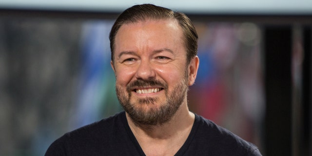 Ricky Gervais is known for hosting the Golden Globes a record five times. (Photo by: Nathan Congleton/NBCU Photo Bank/NBCUniversal via Getty Images)