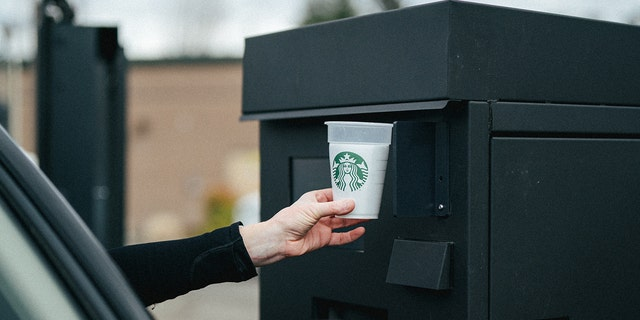 "Starbucks is testing a  ""Borrow A Cup"" program with reusable cups that will be sanitized upon return. (Starbucks)"