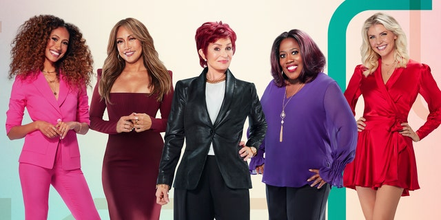 'The Talk' co-hosts (L-R) Elaine Welteroth, Carrie Ann Inaba, Sharon Osbourne, Sheryl Underwood and Amanda Kloots.