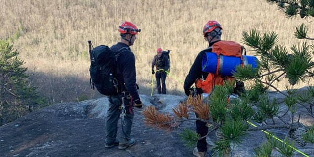 Transylvania County Rescue Squad members respond after a man tumbled 1,000 feet in North Carolina's Pisgah National Forest. (Photo: Transylvania County Rescue Squad)