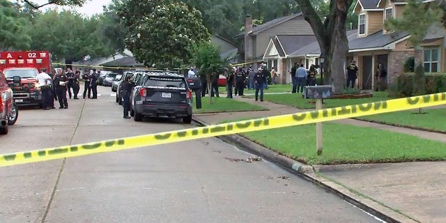 Houston police uncovered dozens of people trapped in a home on Chessington Drive after responding to a reported kidnapping case, authorities said Friday.