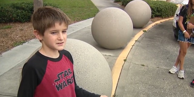 8-year-old Florida boy launches petition to make masks optional in schools (Credit: Fox 35 Orlando)