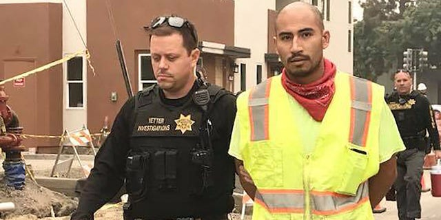 In this photo from Sept. 11, 2020, Vacaville police arrest Serriteno in the murder of Castro.