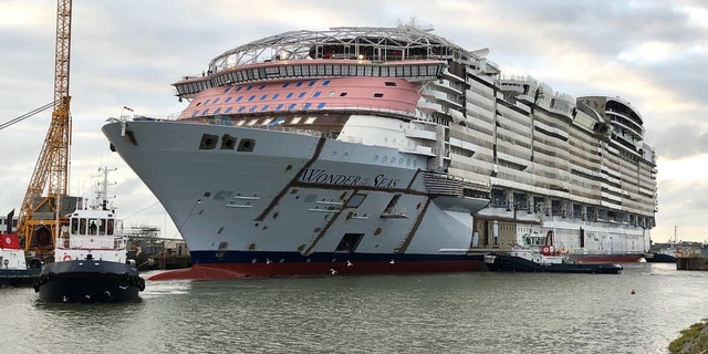 Wonder of the Seas is still being built in France, Royal Caribbean said Tuesday.