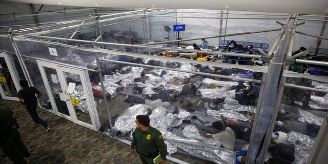 Minors, on March 30, inside a pod at the Donna Department of Homeland Security holding facility in Texas. (AP, File)