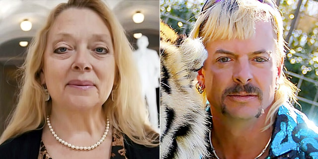 Joe Exotic, right, was convicted on 17 federal charges of animal abuse and two counts of attempted murder for hire in his plot to kill his arch-nemesis and Big Cat Rescue owner, Carole Baskin in 2019 for which he was sentenced to 22 years in prison.