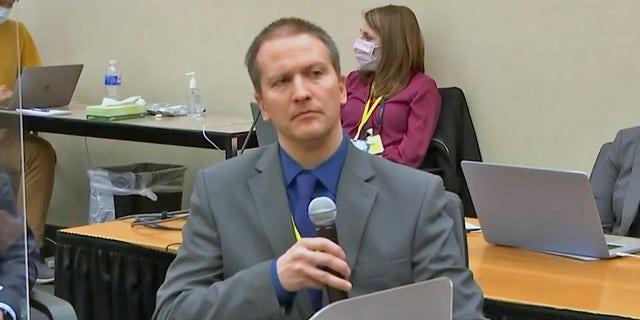 Derek Chauvin speaks during trial, invokes Fifth Amendment, will not testify. (Court TV)