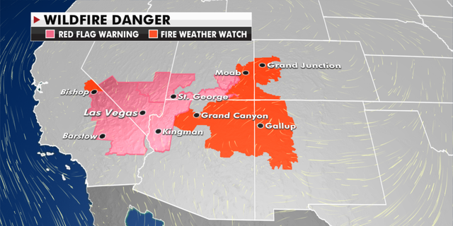 Current wildfire danger in the U.S. (Fox News)