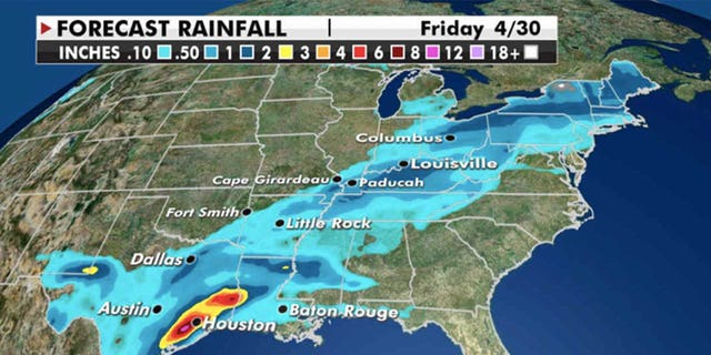 Rain picks up in the Northeast and Mid-Atlantic by Friday (Credit: Fox News)