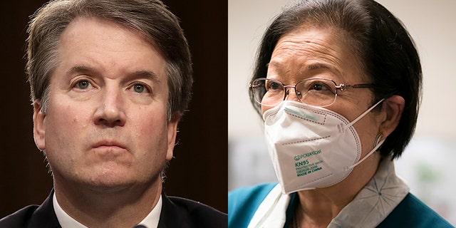 Supreme Court Justice Brett Kavanaugh and Sen. Mazie Hirono