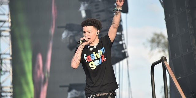 Lil Mosey performs live during Rolling Loud music festival at Citi Field on October 13, 2019 in New York City.