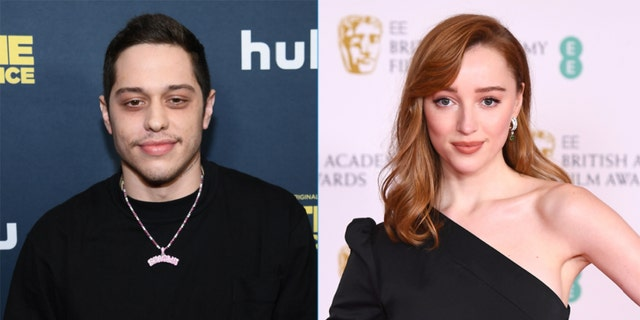 Pete Davidson (L) andPhoebe Dynevor (R) were spotted in England together over the weekend.