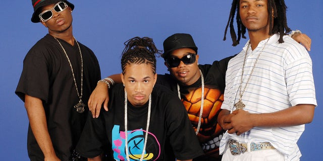 Pretty Ricky members Pleasure, Spectacular, Baby Blue, and Slick 'Em pose for photos at Pretty Ricky's Artist Portrait Session at JR Studio July 25, 2006 in New York City.