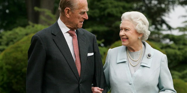 In this image, made available November 18, 2007, HM The Queen Elizabeth II and Prince Philip, The Duke of Edinburgh, re-visited Broadlands to mark their Diamond Wedding Anniversary on November 20. The royals spent their wedding night at Broadlands in Hampshire in November 1947, the former home of Prince Philip's uncle, Earl Mountbatten.