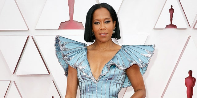 Regina King kicked off the 93rd Annual Academy Awards at Union Station on April 25, 2021 in Los Angeles, California.