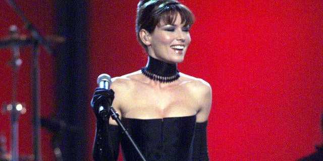 Grammy winner Shania Twain performing on the 41st Annual Grammy Awards show at the Shrine Auditorium in Los Angeles.