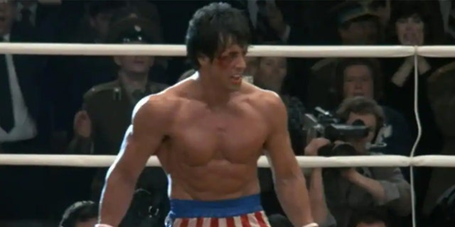Sylvester Stallone in 'Rocky IV,' released in 1985.