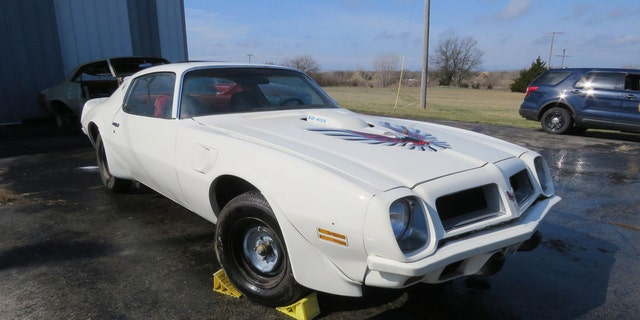 The 1974 Trans Am Super Duty has a 455 cubic-inch V8 and 4-speed manual transmission.