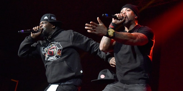 Cappadonna (L) and Method Man of Wu-Tang Clan perform during EMBA Fest 2020 at Oakland Arena on February 21, 2020 in Oakland, California.