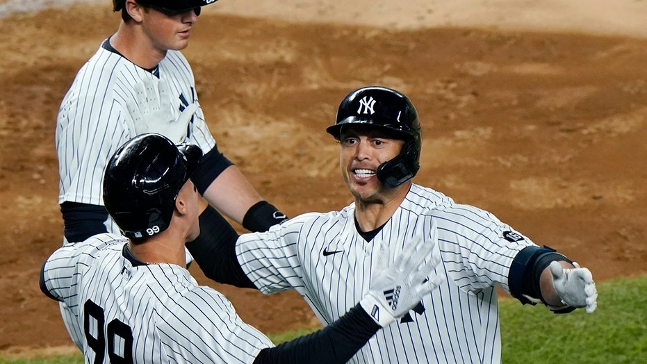 Stanton-ian grand slam in bleachers leads Yanks over O's 7-0