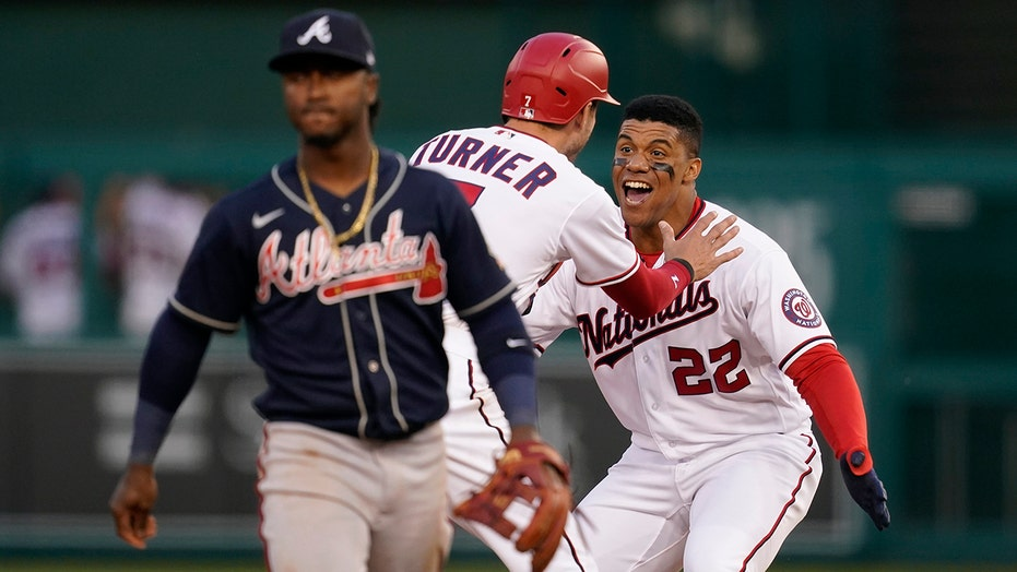 Nats finally play, top Braves 6-5 on Soto's walk-off in 9th