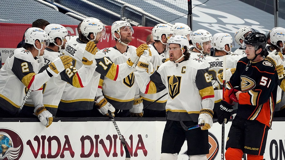 Golden Knights top Ducks to move into tie atop West Division