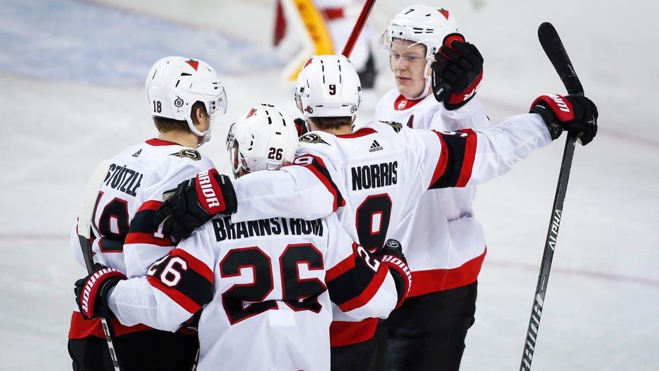 Senators grab 4-2 victory over the Flames