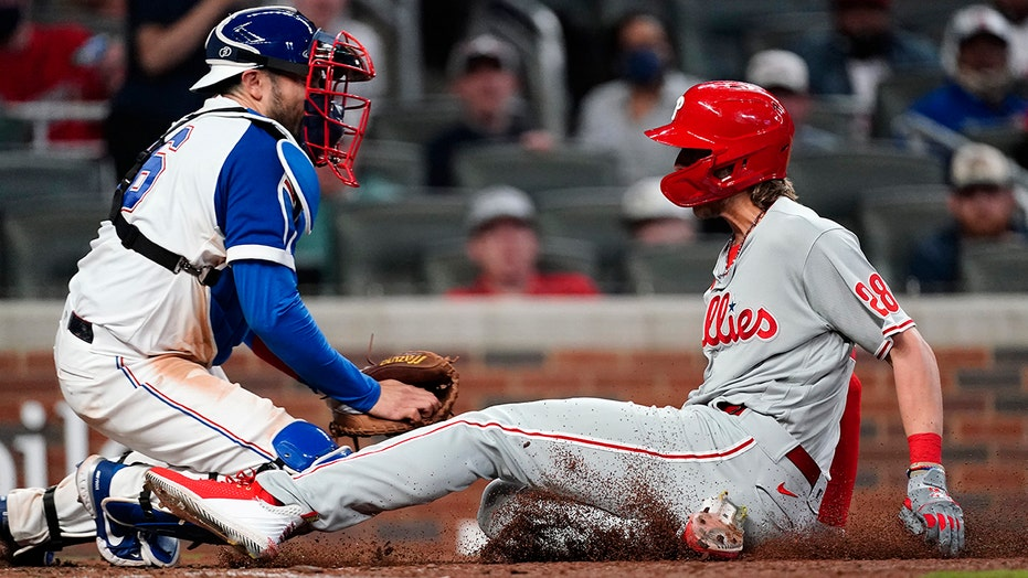 Alec Bohm's go-ahead run the source of controversy at end of Phillies-Braves game