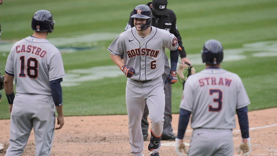 Astros batter A's 9-2 to complete four-game sweep