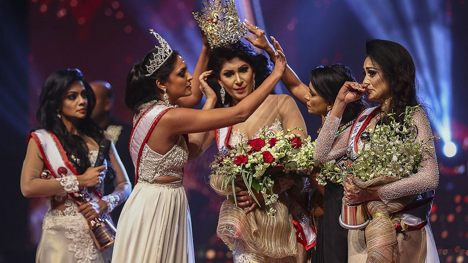 Mrs. Sri Lanka winner says she suffered head injury after her crown was taken from her national TV