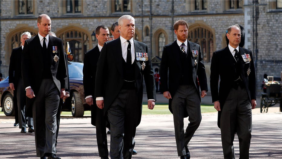 Princes Harry and William reunite at Prince Philip's funeral for first time amid rift, separated in procession