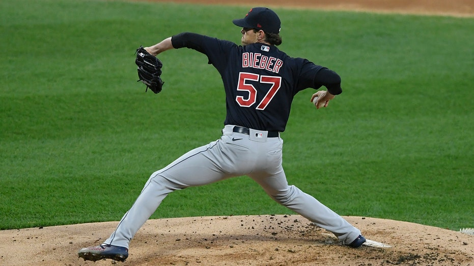 Bieber excels, Indians outlast Giolito, White Sox 2-0 in 10