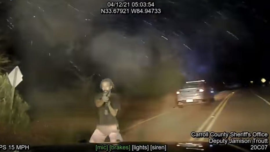 Georgia police release video of suspect opening fire on officers during chase