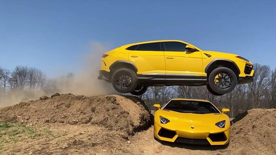 YouTuber jumps Lamborghini over Lamborghini