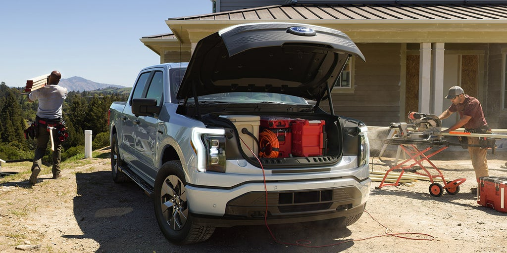 Electric Ford F-150 Lightning unveiled with 'frunk' and price under $40K |  Fox News