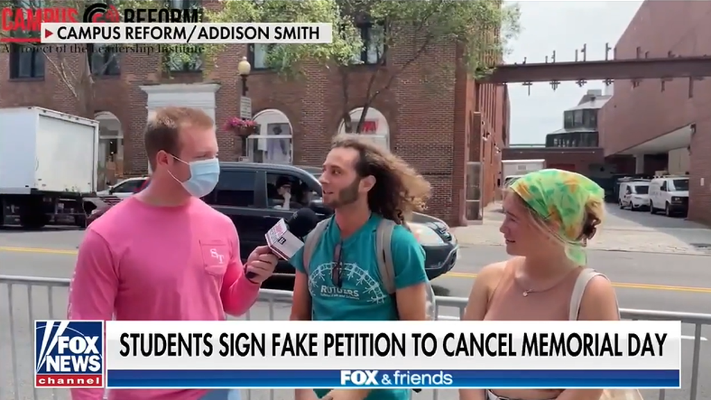 Students sign fake petition to drop Memorial Day, but they don't even know