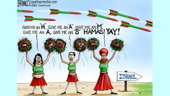 Political cartoon of the day: 'Squad' cheering on Israel's sworn enemy