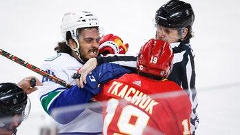 Tkachuk scores twice, Flames beat Canucks 6-2 in finale