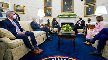 Biden meets with congressional leaders, jokes he'll 'snap my fingers' to reach compromise: 'It'll happen'