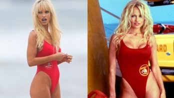 Lily James stuns in iconic red 'Baywatch' swimsuit as Pamela Anderson for TV series