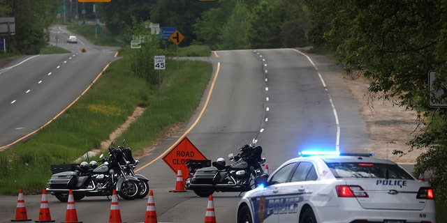 Dolly Madison Boulevard blocked by law enforcement in response to a security situation outside the secure perimeter near the main gate of CIA headquarters in Virginia, USA, May 3, 2021. REUTERS / Leah Millis
