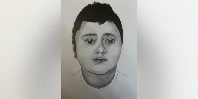 Las Vegas authorities initially released a sketch of the unidentified boy.