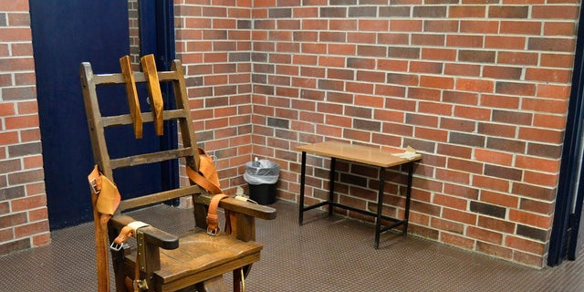 This March 2019 file photo courtesy of the South Carolina Department of Corrections shows the state's electric chair in Columbia, SC South Carolina.  The state stands ready to put firing squads back on its list of execution methods due to a lack of drugs to perform lethal injections.  (Kinard Lisbon / South Carolina Department of Corrections via AP, File)