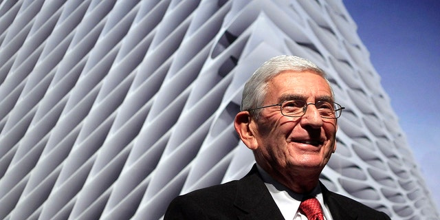 Billionaire Eli Broad, who died Friday, is seen in Los Angeles on January 6, 2011. (Associated Press)