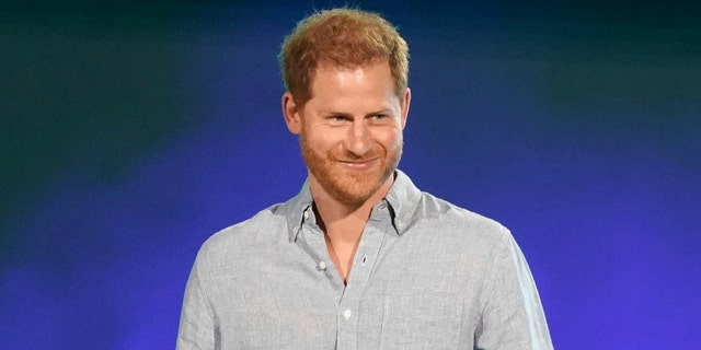 """Prince Harry, Duke of Sussex speaks at """"Vax Live: The Concert to Reunite the World"""" in Inglewood, Calif. on May 2, 2021. (Photo by Jordan Strauss/Invision/AP, File)"""